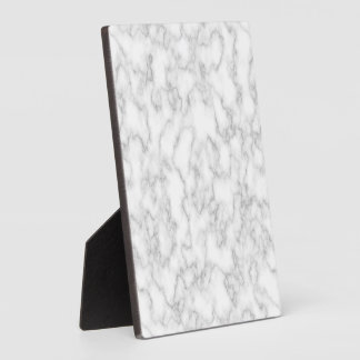 Marbled Gray White Marble Stone Pattern Background Plaque
