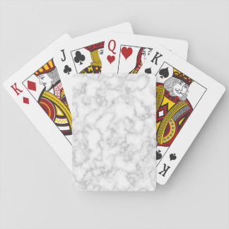 Marbled Gray White Marble Stone Pattern Background Playing Cards