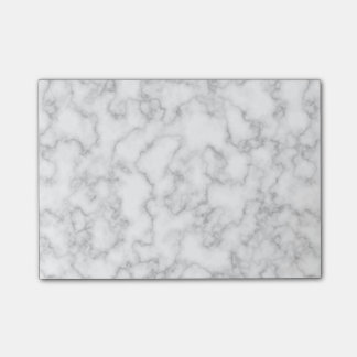 Marbled Gray White Marble Stone Pattern Background Post-it® Notes