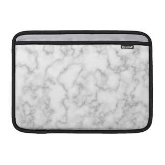 Marbled Gray White Marble Stone Pattern Background Sleeve For MacBook Air
