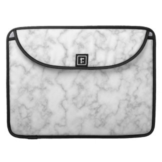 Marbled Gray White Marble Stone Pattern Background Sleeve For MacBook Pro
