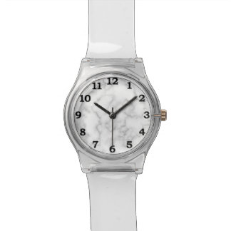 Marbled Gray White Marble Stone Pattern Background Watch