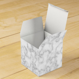 Marbled Gray White Marble Stone Pattern Background Wedding Favor Box