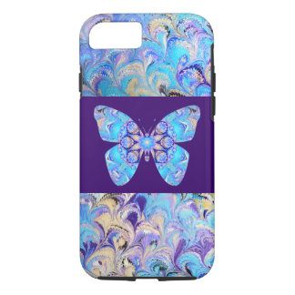 Marbled iPhone 7 Case Kaleidoscope Butterfly