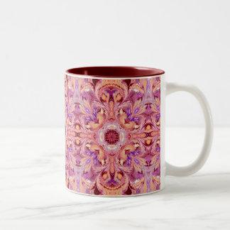 Marbled Kaleidoscope Pattern Ceramic Mug