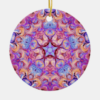 Marbled Kaleidoscope Star Ornament