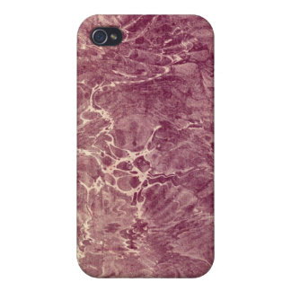 Marbled Maroon iPhone 4/4S Covers