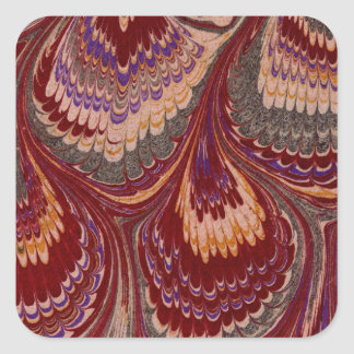 Marbled Paper 1 Motif Square Sticker