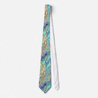 marbled paper pattern Tie