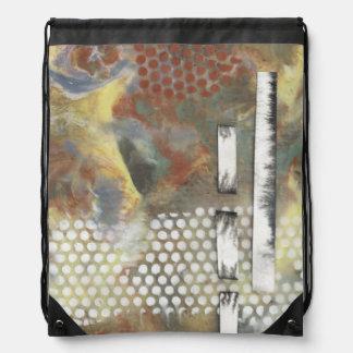 Marbled Pixels II Drawstring Bags