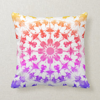 Marbled rainbow ombre rorschach pillow