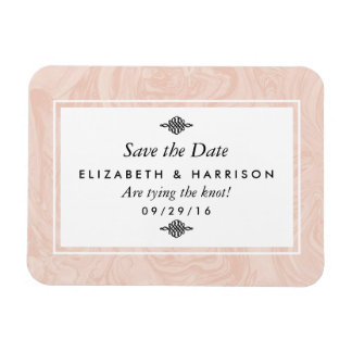 Marbled Rose Elegant Vintage Wedding Save The Date Magnet