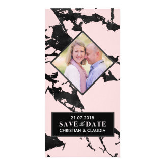 Marbled Save the Date Customized Photo Card