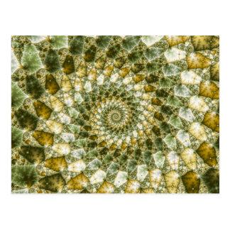 Marbled Shards - Mandelbrot Art Postcard