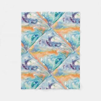 Marbled watercolor fleece blanket