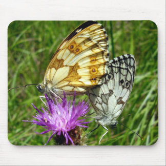 Marbled White Butterflies Mouse Mat Mouse Pad