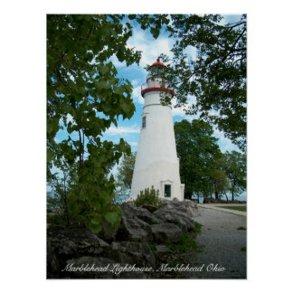 Marblehead Lighthouse, Marblehead Ohio Poster