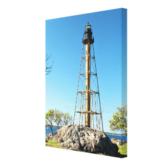 Marblehead Lighthouse Massachusetts Wrapped Canvas