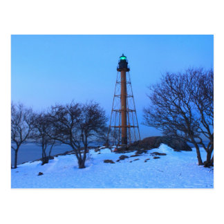 Marblehead Lighthouse Winter Postcard