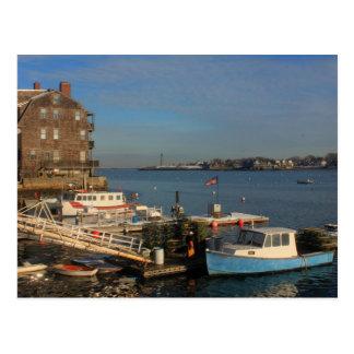 Marblehead MA Waterfront Postcard