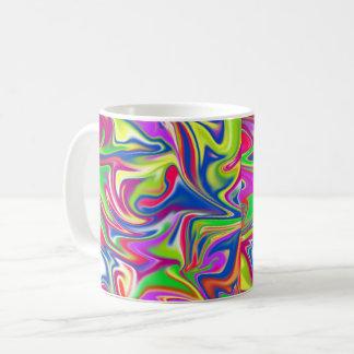 Marbleized Candy Liquid,_ Coffee Mug