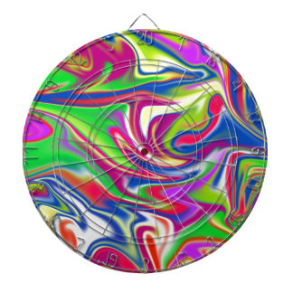 Marbleized Candy Liquid,_ Dartboard