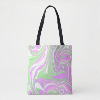 Marbleized Psychedelic Tote Bag