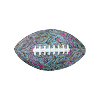 Marbleized Swirls of Black Yellow Pink Blue Etc. Football