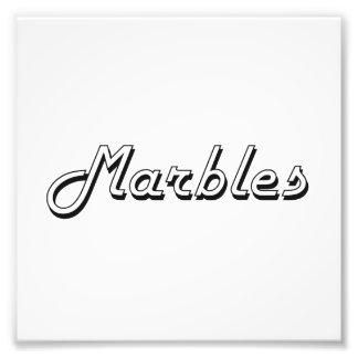 Marbles Classic Retro Design Art Photo
