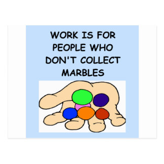 MARBLES collector Postcard