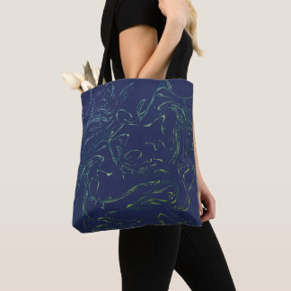 Marbling prin for girls tote bag