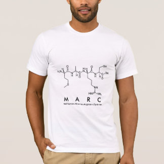 Marc peptide name shirt