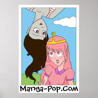 Marceline et princesse Bubblegum Manga Style Poster
