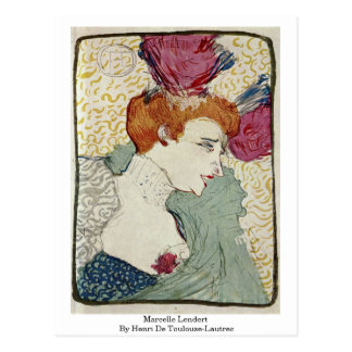 Marcelle Lendert By Henri De Toulouse-Lautrec Postcard