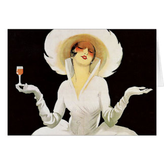 "Marcello Dudovich Art Deco Ad ""Vermouth"" Card"