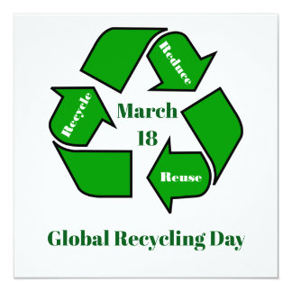 March 18, Global Recycling Day Design Card