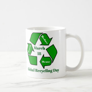 March 18, Global Recycling Day Design Coffee Mug