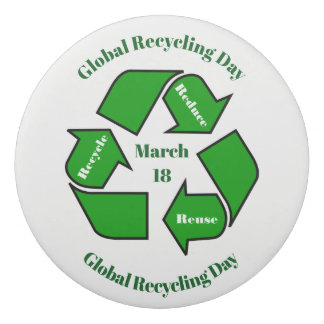 March 18, Global Recycling Day Design Eraser