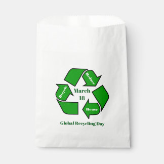 March 18, Global Recycling Day Design Favour Bag