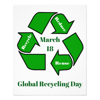 March 18, Global Recycling Day Design Flyer