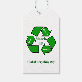 March 18, Global Recycling Day Design Gift Tags