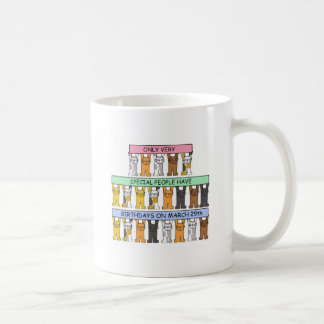 March 29th Birthday Cats Coffee Mug