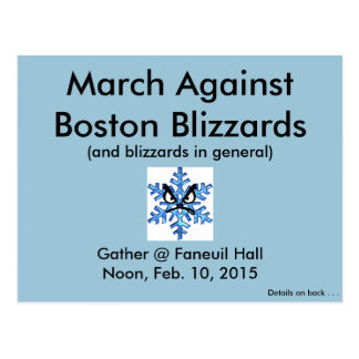 March Against the Boston Blizzards 2015!! Post Card