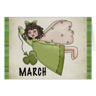 March Angel Blank St. Patrick's Day Greeting Card