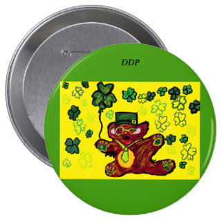 march bear 4 inch round button