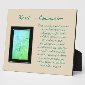 March Birthstone Aquamarine Plaque