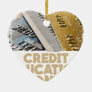 March - Credit Education Month - Appreciation Day Ceramic Heart Ornament