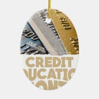 March - Credit Education Month - Appreciation Day Ceramic Oval Ornament