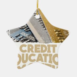 March - Credit Education Month - Appreciation Day Ceramic Star Ornament