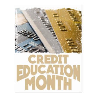 March - Credit Education Month - Appreciation Day Postcard